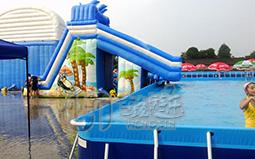 海豚水滑梯充气城堡