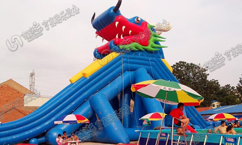 郑州大型儿童充气龙头城堡