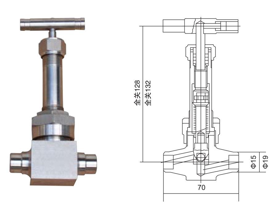 CZY12-21-WT63型波纹管截止阀