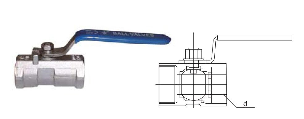 CZY15-8-QIIF-101一片式内螺纹球阀