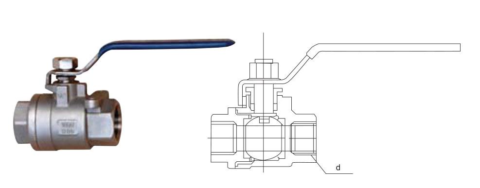 CZY15-9-QIIF-201两片式内螺纹球阀