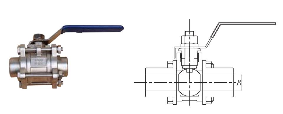 CZY15-11-Q61N三片式焊接球阀