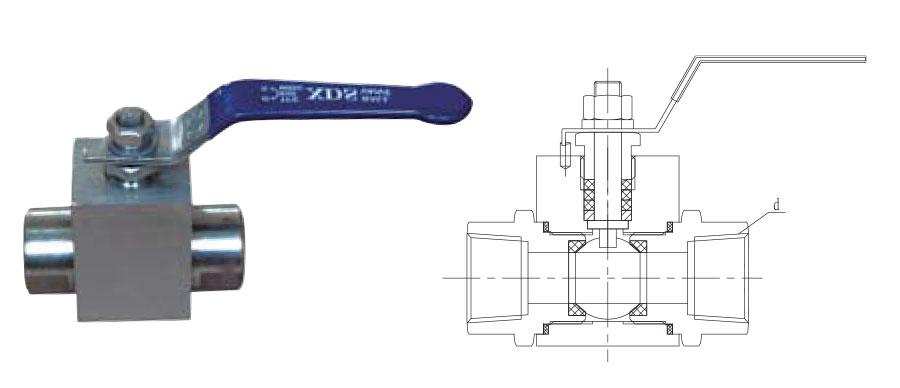 CZY15-13-Q11SG高温高压内螺纹球阀