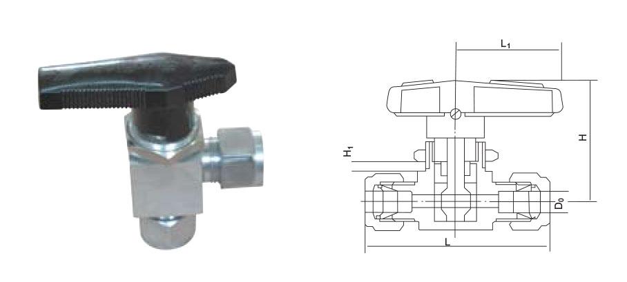 CZY15-16-Q93SA角式卡套球阀