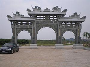 惠安山门牌坊石雕