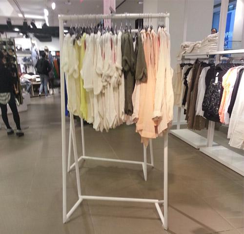 不鏽鋼服裝展示架