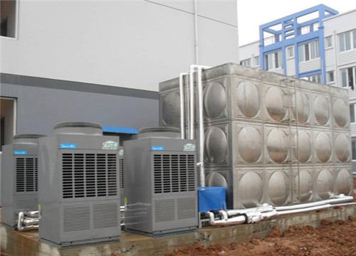 美的空气能办公楼热水工程