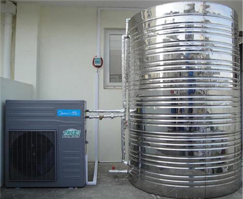美的空气能美容中心热水工程