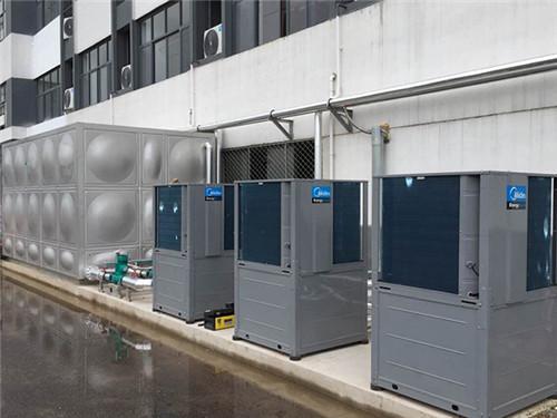 美的空气能员工宿舍热水工程