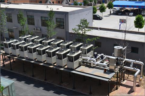 工厂空气能热泵采暖