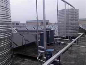 工业城太阳能热泵热水工程