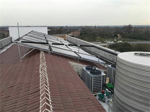 丹阳市助剂化工厂空气能太阳能热水工程