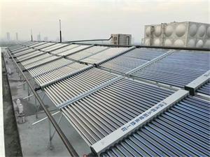 南通二建后勤宿舍空气能太阳能热水工程