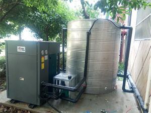 扬州零点连锁酒店空气能热水工程