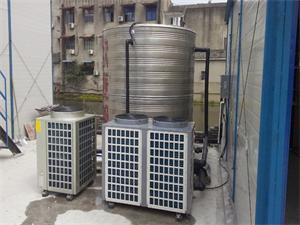 盐城中交工地员工洗浴空气能热水系统