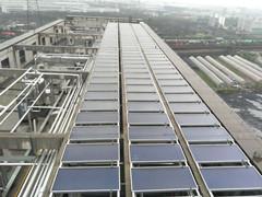 杭州下沙燃气站太阳能加燃气热水系统
