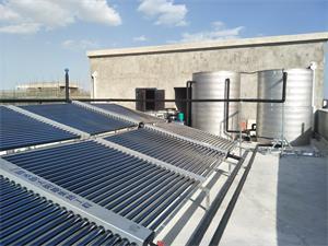 南通臣昊机电宿舍空气能太阳能热水工程
