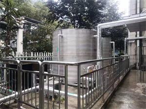 无锡友联厨房+员工洗澡空气能热水工程