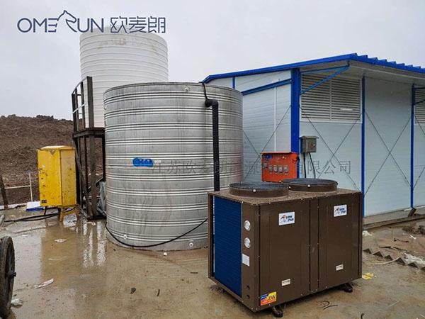 中铁五局工地12P空气能热水工程