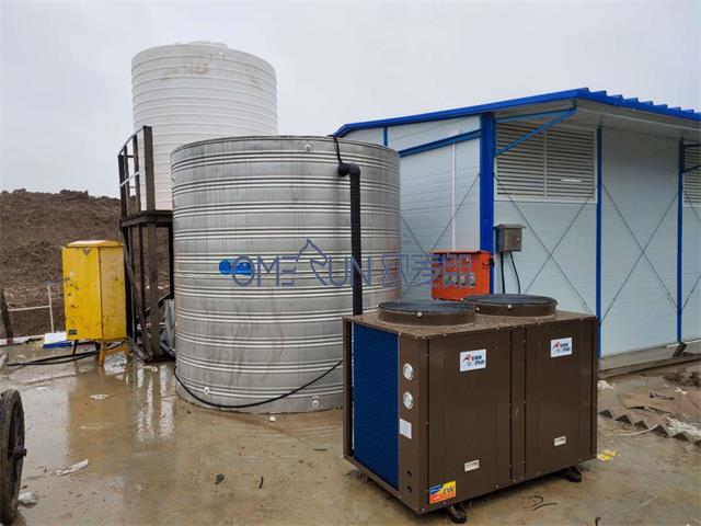 滁州中铁五局工地空气能热水工程