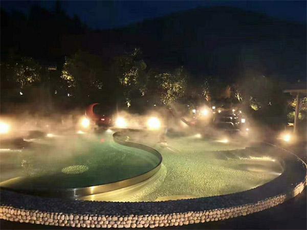 茅山宝盛园温泉池恒温热水系统
