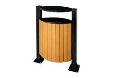 鋼木垃圾桶