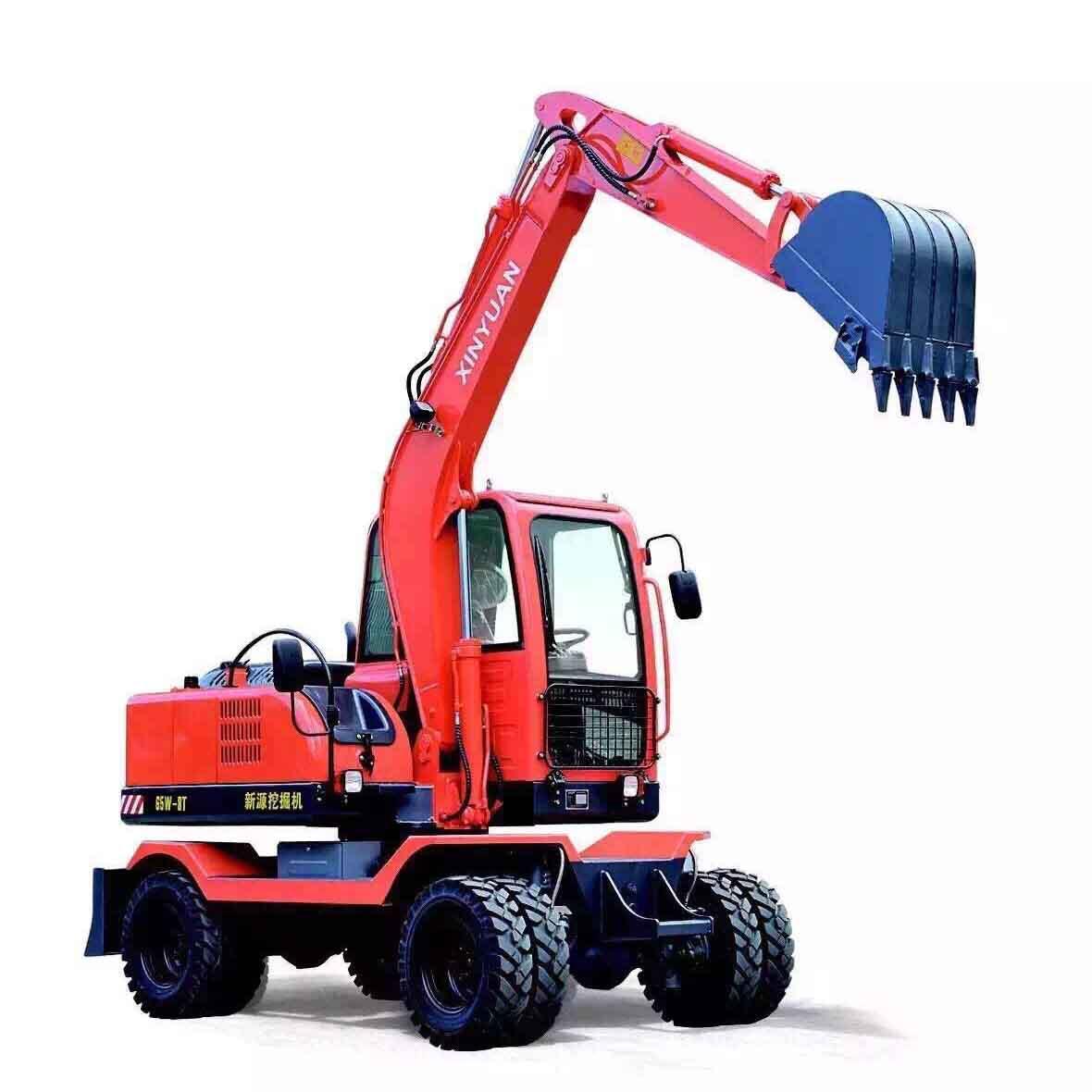 兴义贵阳轮胎式挖掘机