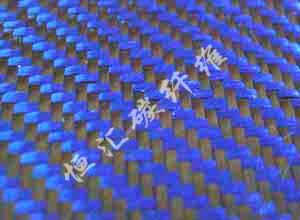 3K碳纤+蓝色芳纶-斜纹190g