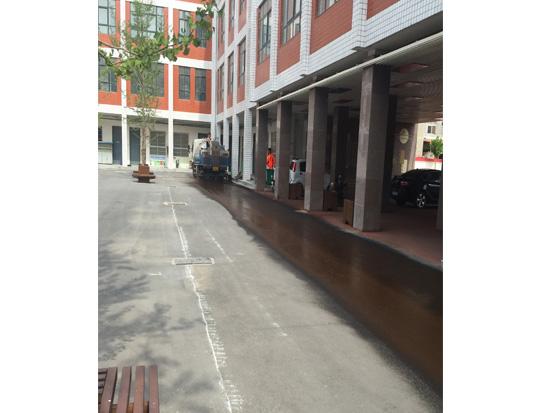 彩色沥青路面施工