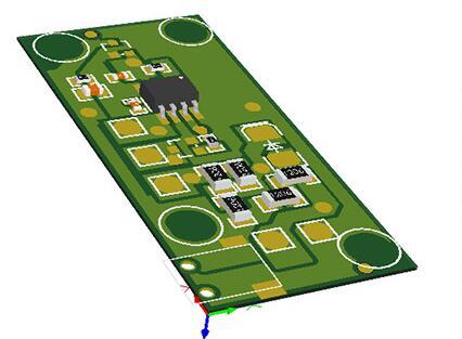 可充电触摸LED台灯控制电路板
