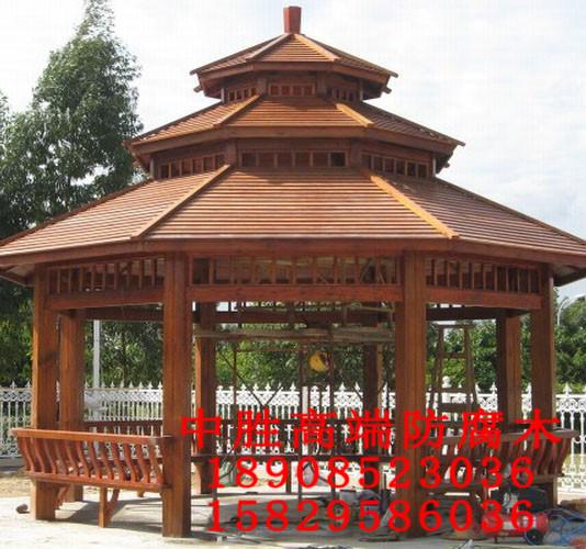 碳化木凉亭设计