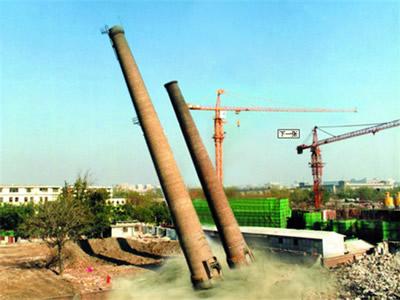 内蒙古烟囱拆除