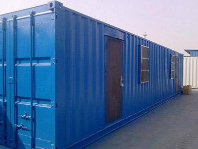 【图文】石家庄集装箱活动房防风细节_为工地建设处理
