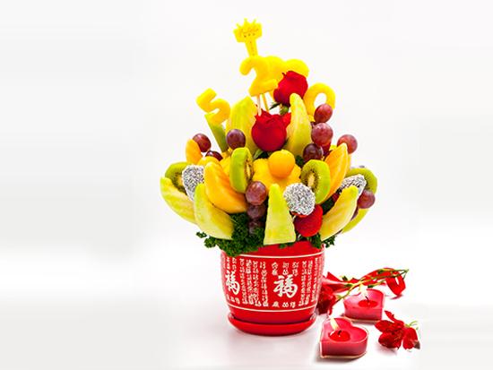 婚礼庆典水果花制作