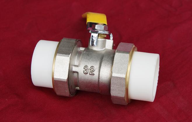 PPR全铜专用双活球阀