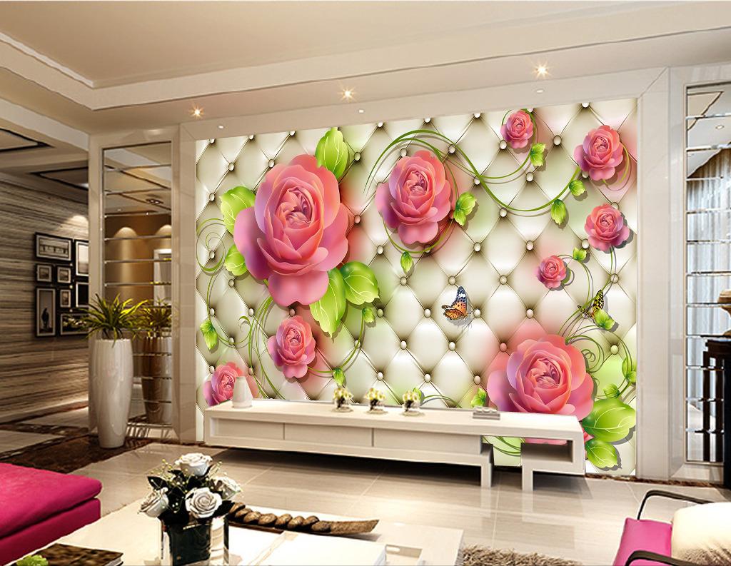皮革软包3D立体造型背景墙