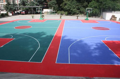 潜江硅pu篮球场施工哪家好 水性跑道 篮球场地坪漆