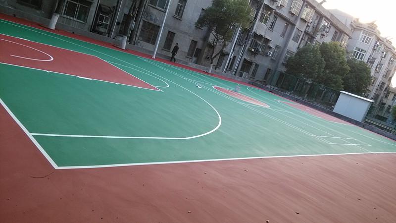 黄冈室外硅pu篮球场工程