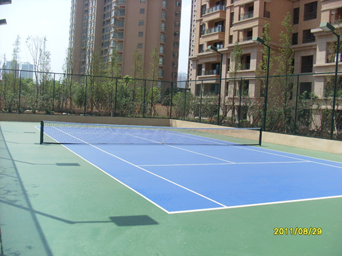 爱家国际公馆硅PU网球场