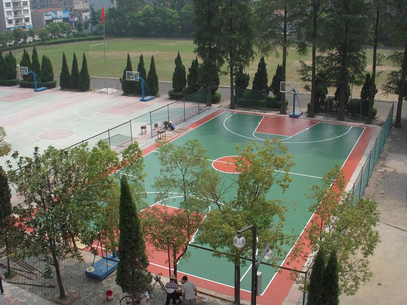 洪湖篮球场地面围网