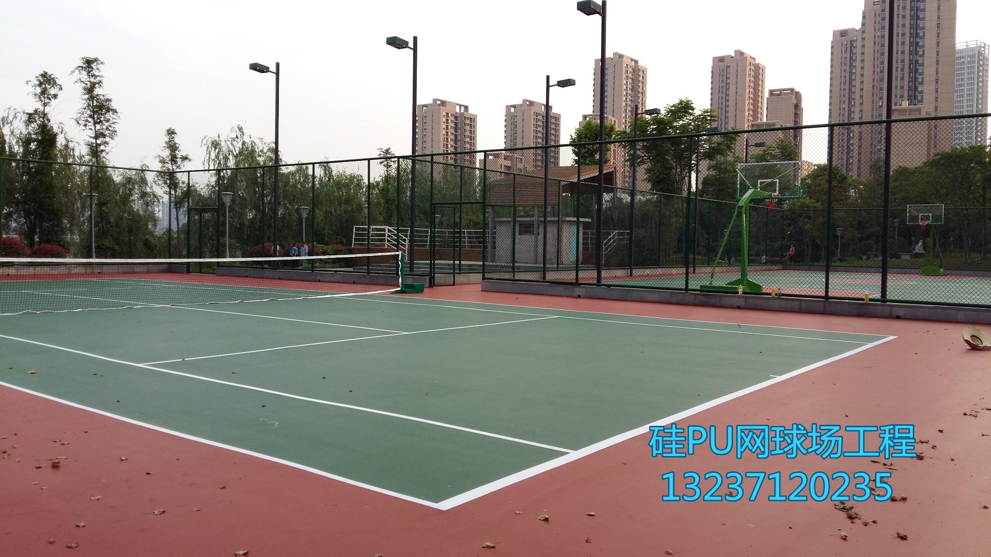 清江泓景硅PU网球场