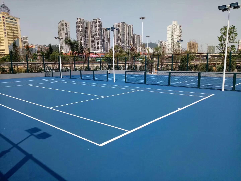 荆门网球场施工