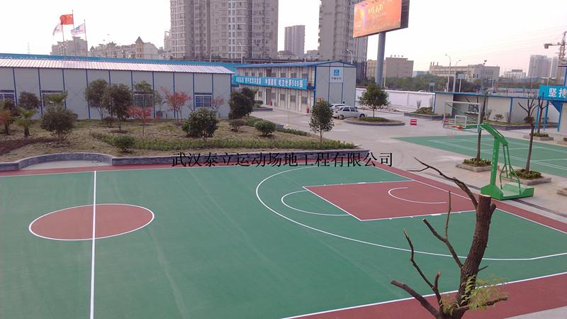 武汉篮球场施工