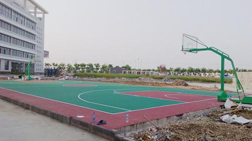 汉南绿色工程丙烯酸篮球场