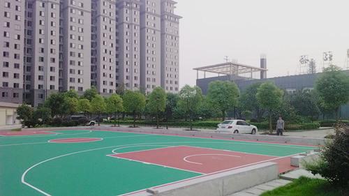 洪湖篮球场工程