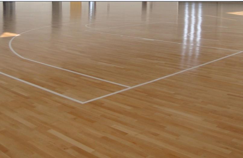 篮球馆木地板铺装