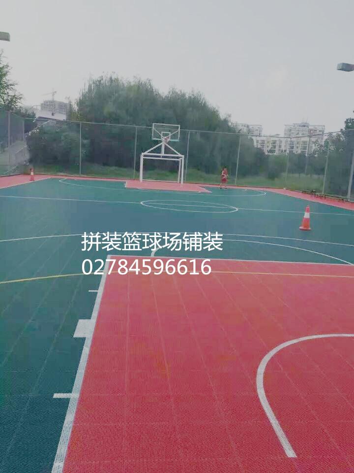 荆门篮球场施工