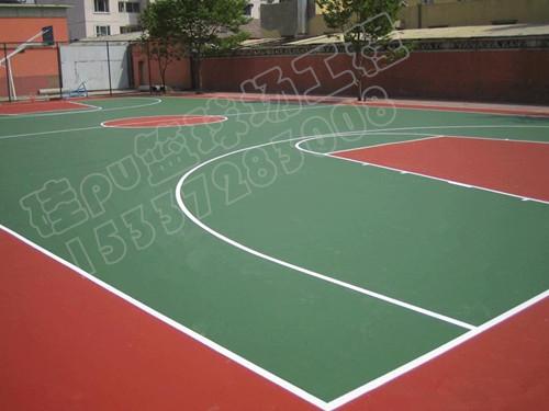 硅pu塑胶篮球场建设