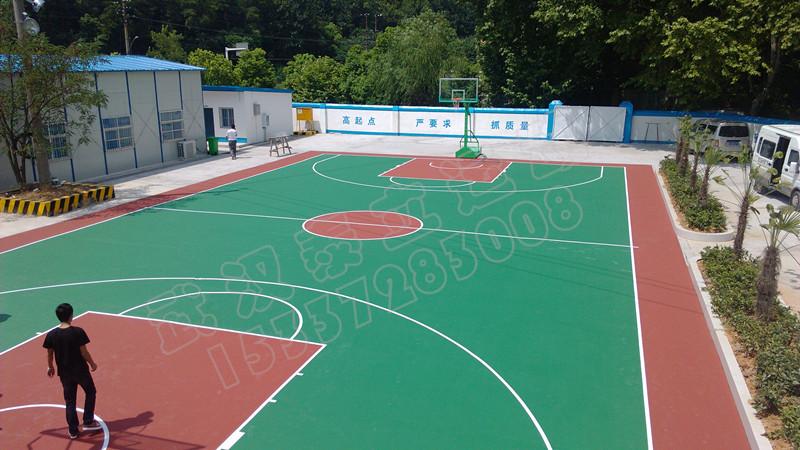 室外硅pu塑胶篮球场