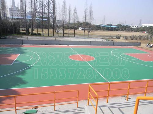 室外硅pu篮球场